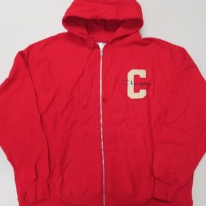 Champion Reverse Weave Hoodie Full Zip Red